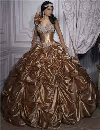 gold quince dresses gown gold taffeta quinceanera dress with beading