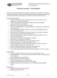 23 warehouse job description resume sample warehouse worker