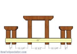 6 foot picnic table with benches plans howtospecialist how to
