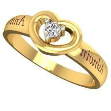 gold name ring customized lovely heart gold name ring gold rings for women for