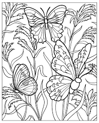 difficult butterflys insects coloring pages for adults justcolor