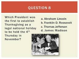 thanksgiving trivia ppt