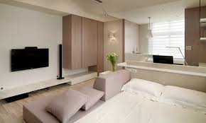 apartment cozy small studio apartment with glosy wooden flooring