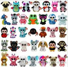 2017 ty beanie boos toys super lovely big eyes colorful dolls