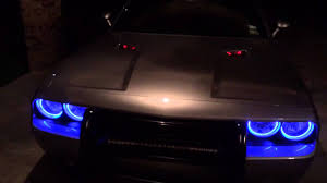 2015 dodge challenger lights easy install halos for the dodge challenger 2015 youtube