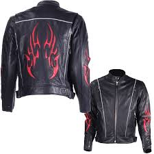 motorcycle style jacket men u0027s black racer style motorcycle jacket with red flame inserts