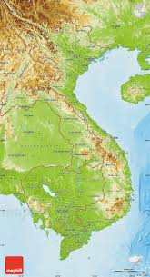 Physical Maps Physical Map Of Vietnam