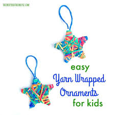 crafts for yarn wrapped ornaments the inspired