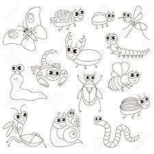 Mignonne Petite Insectes Mis à Colorier Le Grand Livre De Coloriage