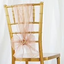 blush chair sashes 5pc x chair sash organza blush tablecloths factory