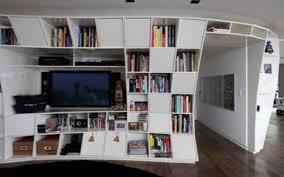 hartleys set of black corner wooden curved floating wall shelves