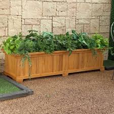 rectangular cedar wood aster patio planter box planter u0026 window