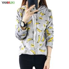 banana sweater gray blue banana print sweater 2017 sleeve