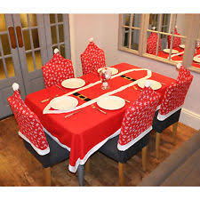 christmas chair covers snowflake christmas table chair covers ebay