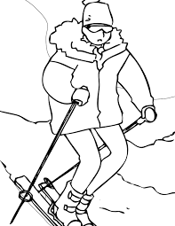 winter sports coloring pages handipoints