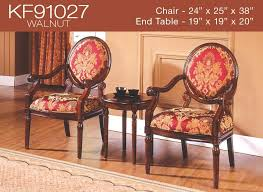 Traditional Accent Chair 3 Pcs Traditional Living Accent Chair Set 2 Colors