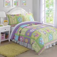 girls pink and green bedding purple pink green floral bedding twin full queen quilt or