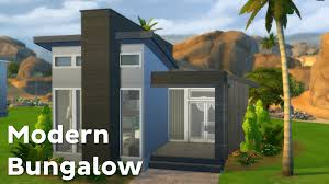 modern house building the sims 4 house building modern bungalow youtube