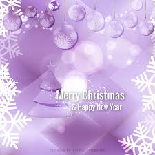 light purple christmas ornament background graphics 123freevectors