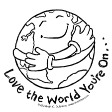 planet earth clipart coloring page pencil and in color planet