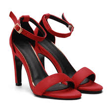 red ankle strap peep toe suede high heel sandals us 33 95 yoins