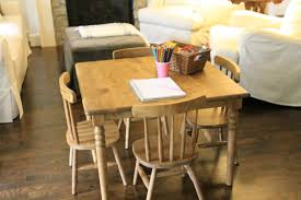 solid wood childrens table and chairs jenny steffens hobick finishing an unfinished kids table chairs good