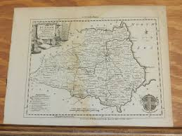 Durham England Map by Dec 1751 Antique Map County Durham England London Magazine Ebay