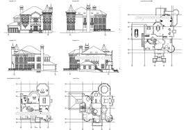 villas dwg models free download