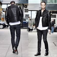 leather biker style boots eugene davydov edavydov lookbook