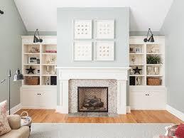 Fireplace Surround Bookshelves River Rock Fireplace Surround White Bookcase Bookshelf Wall Arm