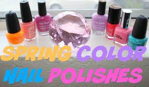 spring nail polish colors 2016 youtube