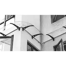 tettoia in plastica angolo elemento esterno per pensilina da parete tettoia in