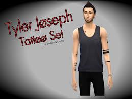 saraadianee u0027s tyler joseph tattoo set