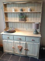 welsh dresser painted in a mix of annie sloan old ochre french