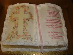 communion bible with cross communion cake