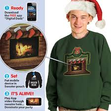 amazon com morphsuits digital dudz fireplace ugly christmas