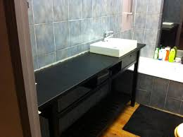 Industrial Bathroom Vanity by Norden Becames Industrial Bathroom Ikea Hackers Ikea Hackers
