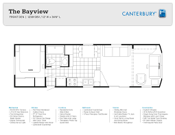 Canterbury Floor Plan by Park Model Options Canterbury Park Model Rvs