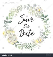wedding wreath wedding wreath save date white flowers stock vector 769714837