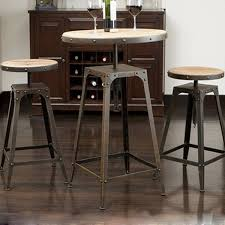 high table and bar stools tall bar table and chairs sosfund pertaining to tables ideas 6
