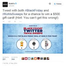 black friday kohls 2014 kohl u0027s black friday the shorty awards
