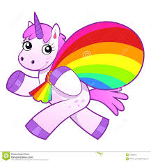 unicorn rainbow unicorn with rainbow bag stock vector image of imagination 53829219