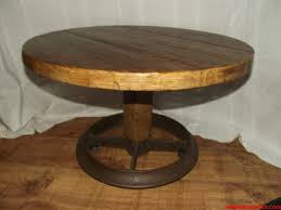 Reclaimed Bedroom Furniture Table Roller Coffee Table Round Rustic Whipswoodwork Log Reclaimed