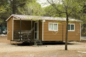 Bungalow Homes by Mobile Homes Brown Bungalow In A Camping Stock Photo Picture