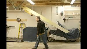 retracting garage stairs u0026 hoist lift youtube