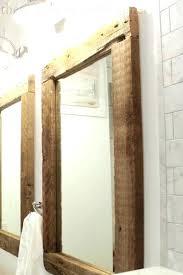 Framing Existing Bathroom Mirrors Framed Bathroom Mirrors Ideas Mirror Frame White For Bathrooms