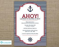 nautical baby shower invitations nautical baby shower invites nautical ba shower invitations