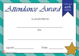 7 best images of attendance award attendance award