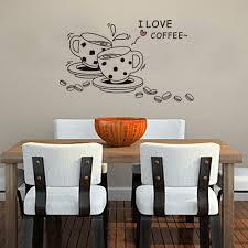 amazon com createforlife home decoration vinyl wall sticker amazon com createforlife home decoration vinyl wall sticker decals mural art i love coffee black cups home kitchen
