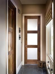 meacham entry door interior square top rail 3 lite walnut